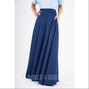 Agnes & Dora Navy Ball Skirt Maxi